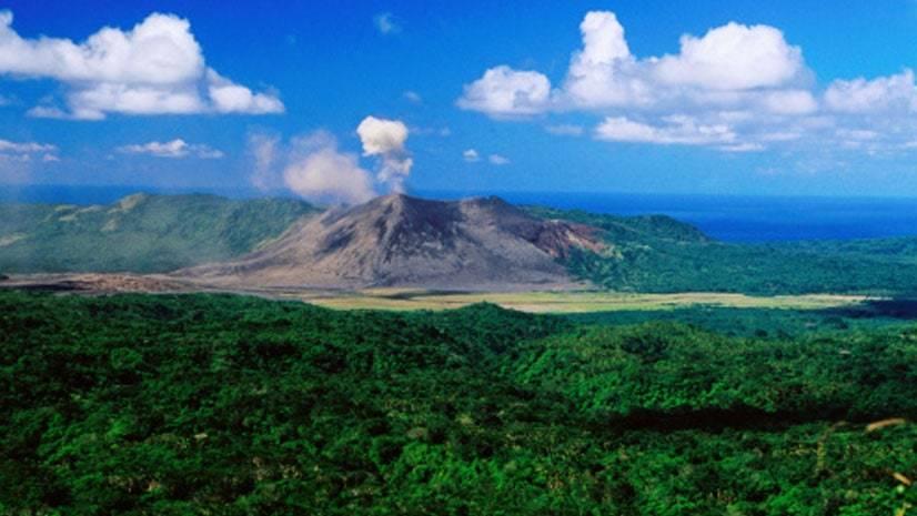 Na sombra de um vulcão